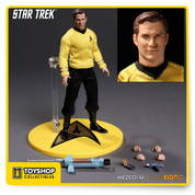 The One:12 Collective presents Captain James T. Kirk from Star Trek The Original Series. The youngest—and arguably the greatest captain ever in Starfleet history—James Tiberius Kirk was assigned command of the USS Enterprise NCC-1701 and proved to be the perfect choice in leading the crew on their 5 year mission.  Expertly crafted to create an exceptional actor likeness and assembled on a One:12 Collective body, Kirk has over 28 points of articulation, numerous accessories and interchangeable parts. This figure features a series-accurate outfit that was painstakingly tailored to create an amazing collectable.