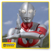Tamashii Nations is celebrating 50 years of the Ultraman series on air in Japan by bringing everyone's favorite, classic tokusatsu hero to SH Figuarts! SH Figuarts Ultraman is top in sculpt, articulation, form and closer to the actual suit design than ever before. The face mask has been carefully crafted asymmetrically to preserve the quality of the original suit. Additionally, strategically placed points of articulation in the elbows and knees allow for realistic recreation of iconic Ultraman poses. Set includes 4 interchangeable hands, Specium Ray effect parts, Rebound Ray PET sheet, stand for sheet, and interchangeable color timer. Measures approximately 6-inches tall. Ages 15 and up.