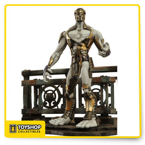 """A Diamond Select Release. Designed and Sculpted by Gentle Giant. We know who all the Avengers are in the new Joss Whedon movie, but who are their foes? Kept tightly under wraps, we've developed an all-new 7"""" scale Marvel Select figure . With 16 points of articulation and a detailed display base, this baddie will be the crowning jewel in any Marvel Select Avengers collection- buy multiples to give the heroes a real fight. The Marvel Select avengers movie villain comes in oversized collector packaging."""