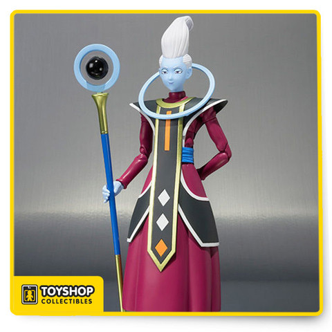 He's always by Beerus' side and S.H.Figuarts Beerus is no exception. You probably guessed it,  the new addition to the S.H.Figuarts Dragon Ball line is none other than Whis! Whis isn't the easiest character to turn into an action figure, but if anyone can pull it off, it's Tamashii Nations. Clear parts are used in Whis' scepter to give the illusion of the floating orb from the anime and Whis even comes with an interchangeable hand holding a spoon (in case he gets the munchies, of course). The set additionally includes interchangeable heads (x2) and regular interchangeable hands (x4).