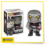 "This Locust Drone is here to wreak havoc and take down the COG up with his rifle in hand. Take home this Gears of War Locust Drone Pop! Vinyl Figure as he stands 3 3/4-inches tall in a window display box. The ""grub"" is decked out in battle attire and is designed just like how it appears in the Gears of War video game! Ages 17 and up"