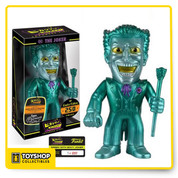 The Clown Prince of Crime is back in Hikari form and toting a fancy colorway! Envy Joker is metallic green with envy, complete with yellow eyes and a mischievous grin! Standing approximately 7-inches tall, individually hand-numbered, and limited to only 250 pieces worldwide, the Joker comes in a collection-friendly window packaging. This Batman Envy Joker Hikari Sofubi Vinyl Figure is an essential piece for any DC fan!