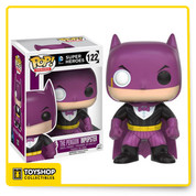 The villains of Gotham are dressing up like Batman and pretending to be the famed Caped Crusader! This Batman Impopster Penguin Pop! Vinyl Figure features Penguin applying his style to Batman's classic costume. The Batman Impopster Penguin Pop! Vinyl Figure measures approximately 3 3/4-inches tall and comes packaged in a window display box