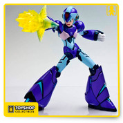 TruForce Collectibles is proud to bring Mega Man fans around the world, an all  New action figure of X unlike any before it. Developed by one of Capcom's talented artists, this unique version of X features diecast armor, LED functionality in the X Buster with red LED, swappable face and hand parts, customizable effects parts and over 30 points of articulation to help you recreate all of X's iconic poses!