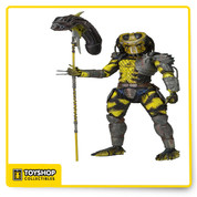 The 11th Series in our #1 selling line of Predators action figures brings new Predators to the hunt! Appearing for the first time ever as an action figure, the Wasp Predator comes from the classic fan film Dead End and includes an amazing new accessory - a staff with an Alien head impaled on the end.