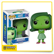 Disgust from Disney Pixar's Inside Out is given a fun, and funky, stylized look as a collectible Pop! vinyl figure from Funko!