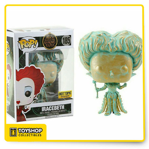 Iracebeth (Patina) from Disney's Alice Through The Looking Glass is given a fun, and funky, stylized look as an adorable collectible Pop! vinyl figure from Funko!