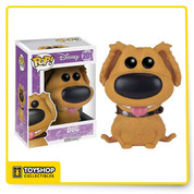 Dug from Disney's Up is given a fuzzy, fun, and funky, stylized look as an adorable flocked collectible vinyl figure!