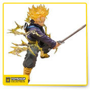 From Tamashii Nations! Following the release of the Figuarts Zero Super Saiyan Son Goku will be Figuarts Zero Super Saiyan Trunks. This meticulously sculpted statue recreates Trunks in precise detail, and features translucent hair. Brilliant effect parts and a special display stand are also included in set. A Tamashii Web Exclusive in Japan, this figure has been made a regular release in the US, thanks to the folks at Bluefin. Window box packaging.