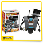 Ah, yes, the Claptrap for a more distinct, worldly taste. Gentleman Claptrap wants you to rest assured that he'll keep an eye on your loot, even though you are technically his minion. Welcome to Pandora, indeed!