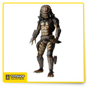 "Based on the 1990 film predator 2, this massive action figure marks the triumphant return of the city hunter to our 1/4 scale line! the action-packed sequel to the original movie moved the hunt to Los Angeles, where even on the streets, the predator stalks his prey with deadly precision. Long out of production, the city hunter 1/4 scale has been updated to include LED lights in the masked targeting system and a new left forearm gauntlet that flips open. The figure stands an impressive 20"" tall and is entirely accurate to the movie design, with over 25 points of articulation and mesh body suit netting. Comes with interchangeable hands, throwing disc and collapsed spear accessories. Uses button Cell batteries, included."