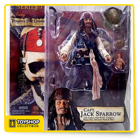 Pirates of the Caribbean: Curse of the Black Pearl Series 3 Captain Jack Sparrow, neca, toy shop, collectibles, action figures