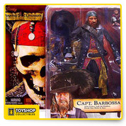 Pirates of Caribbean NECA Capt Barbossa 7 inch.
