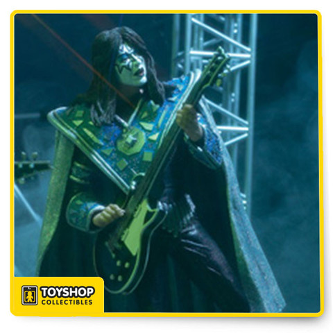 """KISS: Alive - released in 2000 - was the first """"realistic""""-style set of figures McFarlane Toys created of the band, and they were a smash-hit with fans. Those fans, of course, immediately demanded more. And here it is: The KISS action figure line is KISS: Creatures of the Night, based on the 1982 album """"Creatures of the Night."""" Photo reference from the ensuing world tour was used in the sculpting of these figures."""