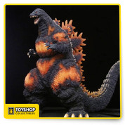 "Celebrating the most famous kaiju of all time, we continue to explore the classic decade-spanning Godzilla franchise! This version of the beloved monster is based on the 1995 movie Godzilla vs. Destoroyah. The figure stands over 6"" tall, with a head-to-tail measurement of over 12"" long. It features incredible ""burning"" details, a bendable tail and nearly 30 points of articulation!"