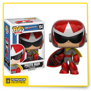 From Mega Man, Proto Man, as a stylized POP vinyl from Funko! Figure stands 3 3/4 inches and comes in a window display box. Check out the other Mega Man figures from Funko! Collect them all!