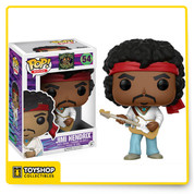 Jimi Hendrix, as a stylized pop vinyl from Funko! figure stands 3 3/4 inches and comes in a window display box. Check out the other music figures from Funko! collect them all!