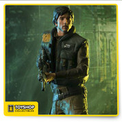Cassian from Rogue One in statue form  Limited edition  Based on original references from the movie  Made in Polystone  Hand painted  Includes display base