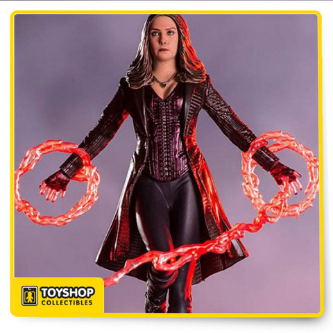 Scarlet Witch from Captain America Civil War in Statue Form  Limited edition  Based on original references from the movie  Made in Polystone  Hand painted  Includes base display