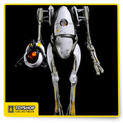 Ready to traverse the Half-Life universe? Testing robot P-Body is now an amazing 1:6 scale action figure! Directly out of the Portal 2 video game. Features LED lights, tons of detail, articulation, and the signature Portal Gun! *Box is not mint*