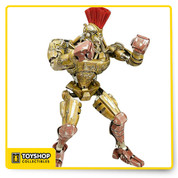 "Midas from Real Steel  The ""Gold Blooded Killer"" Midas from Real Steel 42 cm tall (16 inches) Fully Articulated, includes light up eyes."