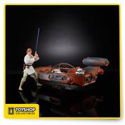 Star Wars Black Series X-34 Landspeeder with Luke Skywalker SDCC Hasbro In Hand