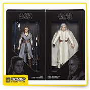 Star Wars The Last Jedi Black Series Luke Skywalker & Rey SDCC Hasbro In Hand