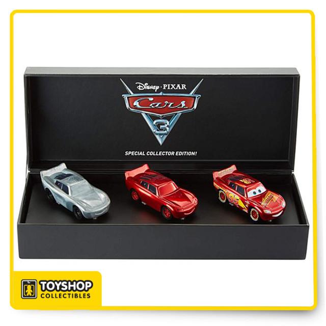Disney Pixar Cars 3 Lightning Mcqueen Diecast 3 Pack Sdcc Hot