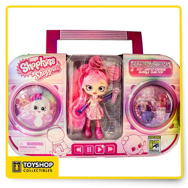 Shopkins Shoppies Bubble Gum Pop Bubbleisha Doll SDCC UCC