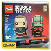 DC Comics Brick Headz Supergirl & Martian Manhunter 2017 SDCC Lego