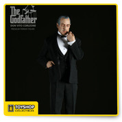 """The Premium Format Godfather Figure captures Don Vito Corleone as he stands tall in his immaculate black couture, poised as though ready to make you an offer that you cannot refuse. The figure is cast in high quality polystone, and dressed with real fabric clothing, all expertly tailored to enhance this museum quality 1:4 scale reproduction. The Godfather stands over 20"""" tall atop his detailed display base and is sure to be the centerpiece of your Premium Format collection."""