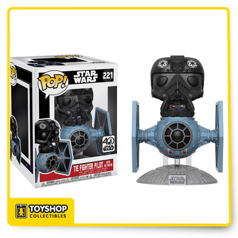The Empire's fearsome fighters are now featured as Funko's newest Pop! Deluxe.   From Star Wars, you can now have your very own Tie Pilot with Tie Fighter!