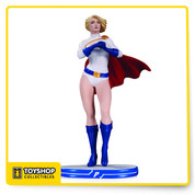 "Designed by Stanley ""Artgerm"" Lau, Sculpted by Jack Mathews Power Girl packs a wallop — and now, she's the latest in the popular line of DC Comics cover girls statues designed by Stanley ""Artgerm"" Lau! Limited Edition of 5,200 measures approximately 9.87 inches tall.  DC Comics Cover Girls Power Girl Statue: Designed by Stanley ""Artgerm"" Lau Sculpted by Jack Mathews Limited Edition of 5,200 Measures approximately 9.875"" tall"