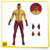 From the hit CW series, it's Wally West, a.k.a. Kid Flash! This young hero comes with extra hands and an extra head without his familiar mask.