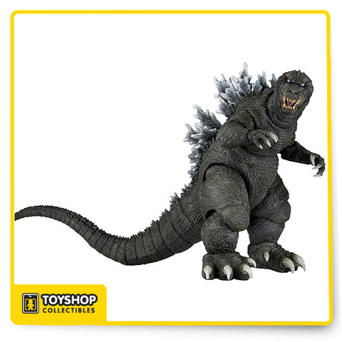 Celebrating the most famous kaiju of all time, we continue to explore the classic decade-spanning Godzilla franchise! This version of the beloved monster is based on the 2001 movie Godzilla, Mothra, and King Ghidorah: Giant Monsters All-Out Attack, a spectacular battle between Godzilla and some of his most famous foes. The figure stands over 6″ tall, with a head-to-tail measurement of over 12″ long. It features incredible detail and over 30 points of articulation, including an articulated tail!