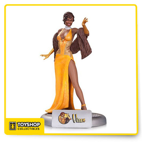 Designed by Ant LuciaSculpted by Amy Sharpe Her claws may be hidden by those evening gloves, but make no mistake—Vixen is dangerous! She's also the latest Bombshells statue.  Limited Edition of 5,000