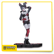 "Designed by ANT LUCIA Sculpted by TIM MILLER It's a new vision of DC's red-hot villain, Harley Quinn, as DC Collectibles unveils the first HARLEY QUINN: RED, WHITE AND BLACK STATUE! Get in at the start of this new statue series! Measures approximately 6.75"" tall."