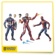 Each figure is 6-inch scale and features multiple points of articulation.  Features: Includes 3 Marvel Super Hero figures 6-inch figures with multiple points of articulation Inspired by the Marvel Movieverse