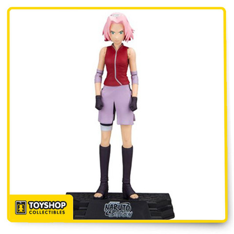 After an intense training period, Sakura acquires the ability to heal wounds, and joins Team 7 as an experienced medical ninja. By building up chakrain her fists, Sakura possesses super human strength, and has become protective of Naruto shielding him at all costs after learning of the hardships in his life. Detailed 7-inch collectable Sakura action figure sculpted in her outfit from Naruto Shippuden Figure includes medical pouch and two sets of hands; relaxed, and closed fists Designed with 15+ points of articulation for full customization Figure features a stylized Naruto Shippuden display base and showcased in window box packaging.