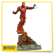 Another Milestone has been met! The second statue in the relaunched Marvel Milestones series is of Iron Man, as he appears in Captain America: Civil War! Rising into the sky on his boot jets out of a cloud of smoke and rubble, the Mark 46 armor unleashes a repulsor blast at a target! Pair it with the upcoming Captain America statue to form a larger scene! This approximately 21 inches resin statue is limited to only 3,000 pieces, and comes packaged in a full-color box with a certificate of authenticity.