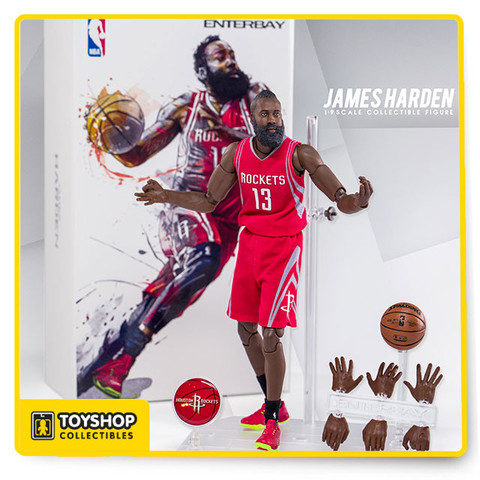 """Feature:  - Museum-quality James Harden head sculpt with authentic likeness, with """"multi-layer"""" paint application. - Specially developed advance 1:9 scale body, with 34 points of articulations, accurate physical appearance, the best mobility ever.   Accessories:  - 8 pieces of James Harden signature interchangeable hands.  - 1 / 9 scale Spalding basketball x 1 - Accurate Houston Rockets official Road uniform x 1 - A pair of Official Stance NBA socks - A pair of Harden player edition sneaker - New design figurine stand, figurine easily connected by magnet - Houston Rockets team logo moveable plate for stand x 1"""