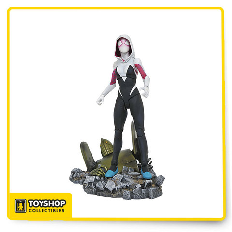 The figure will stand 6.75-inches tall and comes with interchangeable masked and unmasked head sculpts, various interchangeable hands, and a sculpted diorama base depicting a fallen robot! Packaged in the display-ready Select packaging with side-panel artwork. Sculpted by Jean St. Jean!