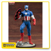 "From Kotobukiya's ""Modern Myth"" series, a series that takes a characters' classic styling to a modern level, comes Captain America! © 2017 MARVEL"