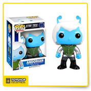 Your favorite blue skinned extraterrestrial from Star Trek gets the Pop! Vinyl treatment he so deserves! The Star Trek Andorian Pop! Vinyl Figure is 3 3/4-inches of gorgeous plastic that finds the humanoid alien looking every bit as strange as on the show, protruding blue antennae and all. Give your dilapidated desk a cool blue sheen with the Star Trek Andorian Pop! Vinyl figure!