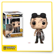 Funko is excited to introduced a pop vinyl line based on the blockbuster movie Mad Max Road Fury! This pop vinyl figure of Imperator Furiosa features her in a wasteland armor and fully equipped with her metal arm and steering wheel.