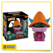 "From Masters of the Universe, comes Orko as a Specialty Series Dorbz vinyl figure! This figure is approximately 3.75"" tall and comes in a double sided window display box."