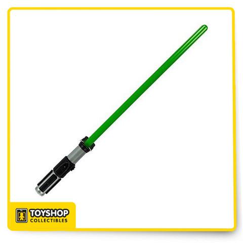 """Disney Parks Star Wars Luke Skywalker Green Lightsaber Lights Sounds FX .34"""""""