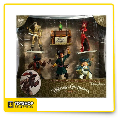 Take a wild voyage through secret caverns and fierce sea battles as you join the rowdiest rogues that ever sacked the spanish main...its a boat ride through classic Disney swashbuckling adventures, and now these 6pc collectible figure set showcases some of the favorite characters and moments from the iconic attraction.     Features:     Exclusive item from the Walt Disney World theme parks and resorts  6pc collectible figure set  Made of plastic PVC  Recommended age: 3 years and up  Up to 5 inches in height