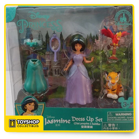 Includes   Jasmine with two dresses, Iago, Raja and mirror.