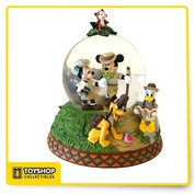 Disney Parks Shanghai Resort Mickey & Friends Adventure Isle Snow globe.  New in box.